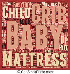 Baby Crib Advice and Tips text background wordcloud concept