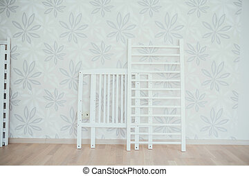 baby crib. dismantled bed