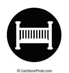 Baby crib icon
