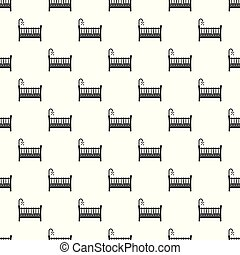 Baby crib pattern seamless vector repeat geometric for any web design