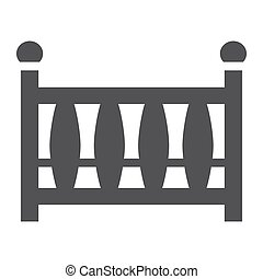 Baby crib solid icon, baby cot and bed, vector graphics, a filled pattern on a white background, eps 10.