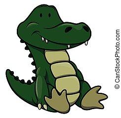 Baby crocodile cartoon illustration