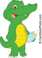 baby crocodile cartoon