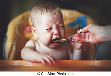 baby cry, capricious, refuse to eat is not hungry