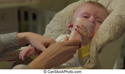Baby Crying In Oxygen Mask - Baby crying in oxygen mask...