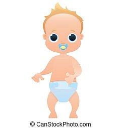 Baby cute cartoon character