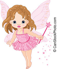 baby, cute, liden, fairy