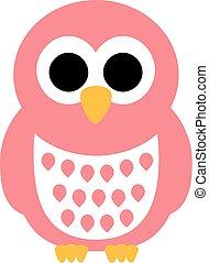 Baby cute owl