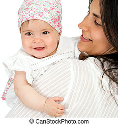 baby, daughter., mutter