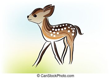 Baby deer icon vector