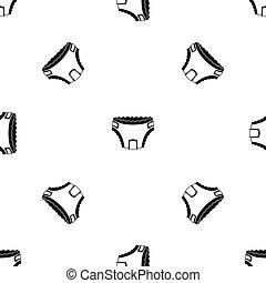 Baby diaper pattern seamless black - Baby diaper pattern...