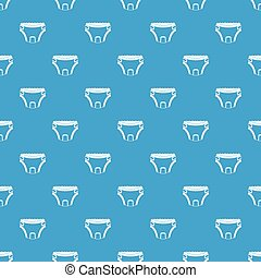 Baby diaper pattern seamless blue - Baby diaper pattern...