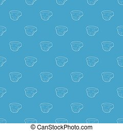 Baby diaper pattern vector seamless blue repeat for any use
