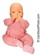 Baby Doll Toy - Childs baby doll toy dressed in pink...