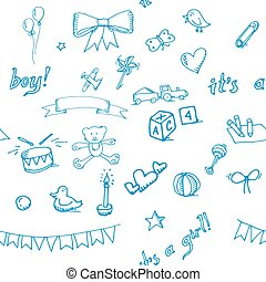 Baby doodle pattern