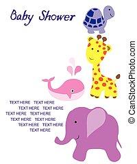 Vector clipart van aankomst douche baby vector kaarten of egel csp37527412 zoek naar - Baby douche ...