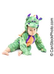 Baby Dragon Costume - Purple, orange and green dragon...