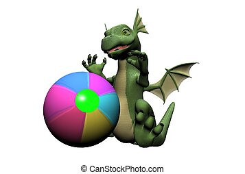 Baby Dragon with Ball