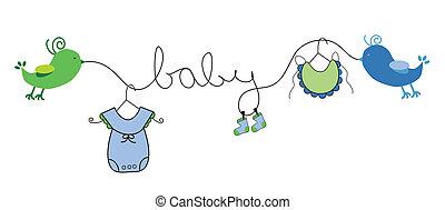 baby dreng, beklæde, klæder