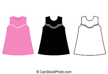 Baby dress icon. Vector flat style illustration.
