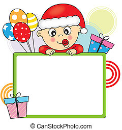baby dressed as santa claus