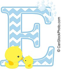 baby duck initial e