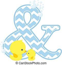 baby duck initials ampersand