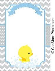 baby duck invitation