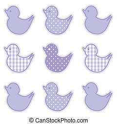 Baby Ducks, Gingham and Polka Dots