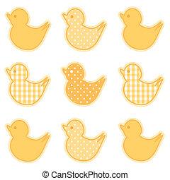Baby Ducks, Gingham and Polka Dots