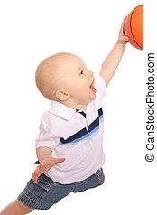 Baby Dunking Basketball