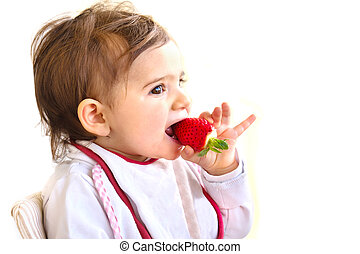 baby eat strawberry newborn eat fruit