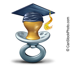 Baby Education - Baby education and future student graduate...