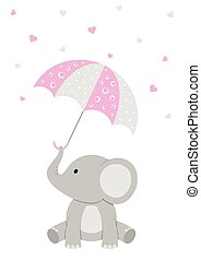 Baby Elephant - Pink Baby Shower