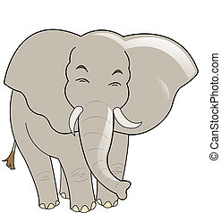 Baby elephant vector illustration, isolated on white