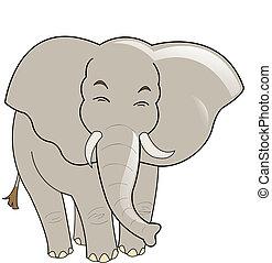 Baby elephant vector illustration, isolated on white