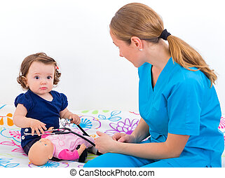 Baby examination