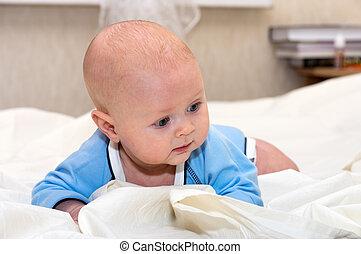 Baby explores the world