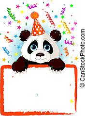 baby, födelsedag, panda