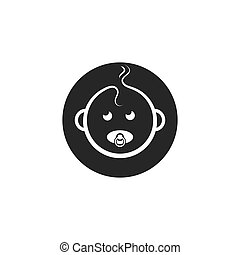 baby face icon vector illustration design