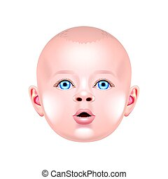 Baby face isolated on white vector