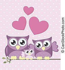 baby family owls