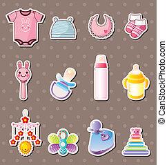 baby, farceren, stickers