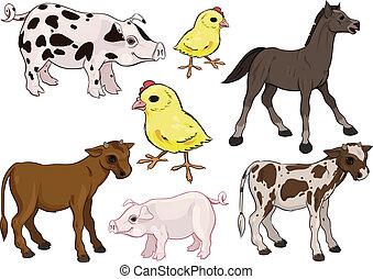Baby farm animals set