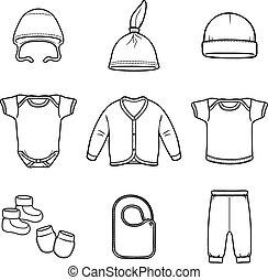 Baby fashion clothing, fashion, vector, shirt, illustration, design, wear,