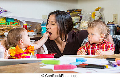 Baby Feeds Mother