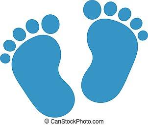 baby boy feet blue baby boy feet invitation announcement