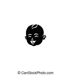 Laughing baby boy toddler vector