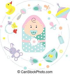 Baby Flat Icon Set