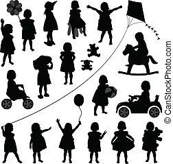 baby flicka, liten knatte, barn, barn